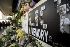 La vue de plan rapproché de l'endroit expédient pour que les visiteurs payent pour la dernière fois respectent à M. aimé Lee Kuan image libre de droits