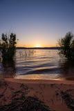 La vue de Powell Sunset Landscape avec le rouge bascule #2 photographie stock