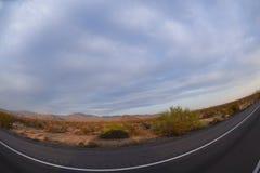 La vue de Pranoramic du Nevada abandonne aux Etats-Unis Image stock