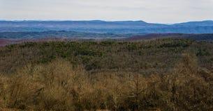 La vue de Ridge Mountains bleu de Dan Ingalls Overlook photos libres de droits