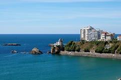 La vue de sapins de Biarritz Photo stock