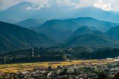 La vue de la station de Hinoharu photographie stock libre de droits