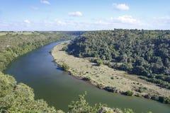 La vue de la taille de la vallée de la rivière Chavon photo stock