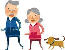La vue de vieux couples Photo stock