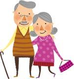 La vue de vieux couples illustration de vecteur