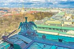 La vue de ville du toit Image libre de droits