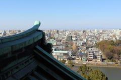 La vue de la ville de Nagoya du complexe de château Si vieux se réunit photos stock