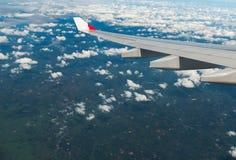 La vue des avions à réaction de fenêtre Images libres de droits