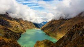 La vue des barrages de Kaprun dans Zell AM voient Image stock