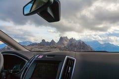La vue des dolomites, Italie Image stock