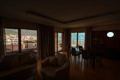 La vue des fenêtres de la mer Image libre de droits