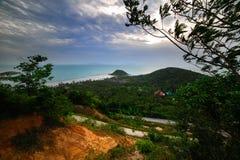 La vue des montagnes Photographie stock