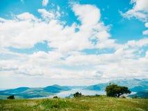 La vue des montagnes dans Monténégro de fort Gorazde Kot Image libre de droits