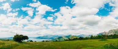 La vue des montagnes dans Monténégro de fort Gorazde Kot Images stock