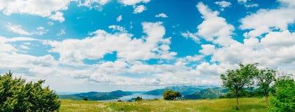 La vue des montagnes dans Monténégro de fort Gorazde Kot Images libres de droits