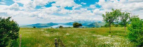 La vue des montagnes dans Monténégro de fort Gorazde Kot Photos libres de droits