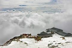 La vue des plaines de nuage Photographie stock