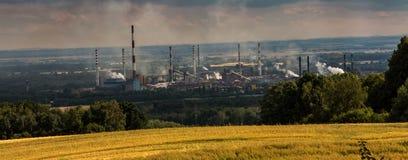 La vue du bâti St Anna sur la cokerie Zdzieszowice Image libre de droits