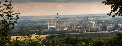 La vue du bâti St Anna sur la cokerie Zdzieszowice Photo stock
