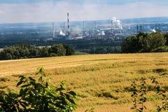 La vue du bâti St Anna sur la cokerie Zdzieszowice Photographie stock