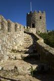 La vue du château du amarre dans Sintra, Portugal Images stock