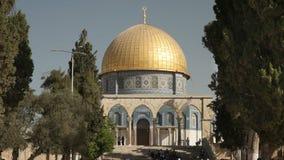 La vue du dôme de la roche de la direction de la mosquée d'aqsa d'Al clips vidéos