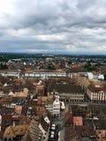 La vue du haut de Notre-Dame De Strasbourg Images stock