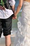 La vue du jeune couple desserrent Photo stock
