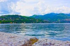 La vue du lac Como, Bellagio, Italie Images stock