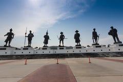 La vue du parc de Rajabhakti, les statues géantes de rois a consacré en Hua Hin photo libre de droits