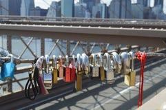 La vue du pont de Brooklyn Photo libre de droits