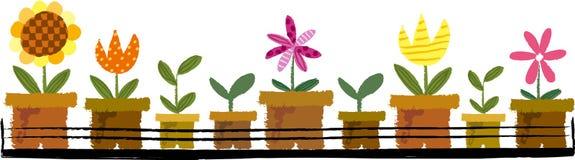 La vue du pot de fleurs illustration stock
