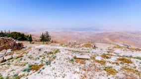 La vue du ` a promis le ` de terre du bâti Nebo photo libre de droits