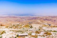 La vue du ` a promis le ` de terre du bâti Nebo image libre de droits