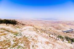 La vue du ` a promis le ` de terre du bâti Nebo photographie stock