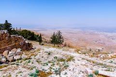 La vue du ` a promis le ` de terre du bâti Nebo images libres de droits