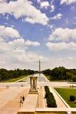 La vue du Washington DC, regardant vers l'est à travers le mail national de Lincoln Memorial Image libre de droits