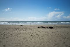 La vue en plage d'océan, plage d'océan, San Francisco Photos stock