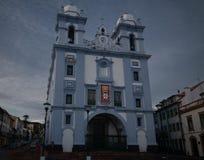 La vue extérieure à l'église de Misericordia, Angra font Heroismo, Terceira, Portugal Images libres de droits