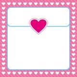 La vue a formé du coeur blanc sur le fond rose Photographie stock libre de droits