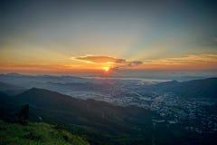 La vue la plus élevée en Hong Kong Photographie stock libre de droits