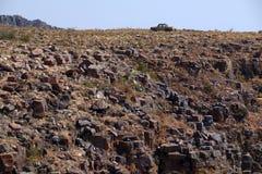 La vue large du croiseur de terre sélectionnent le camion dans Morro font Bimbe, Huila photo stock