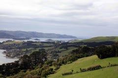 La vue montant au château de Larnach dans la nouvelle ardeur de Dunedin images libres de droits