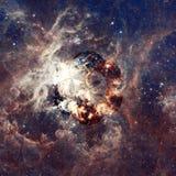 La vue panoramique de Hubble d'une région de étoile-formation image libre de droits