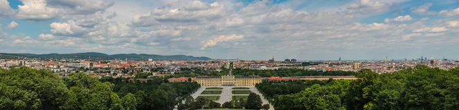 La vue panoramique du palais de belvédère est un exemple renversant d'architecture comme art de la période baroque flamboyante en photographie stock