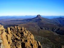 La vue panoramique du sommet de la montagne de berceau photographie stock libre de droits