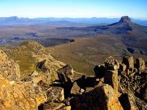 La vue panoramique du sommet de la montagne de berceau photographie stock