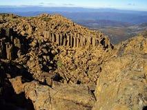 La vue panoramique du sommet de la montagne de berceau images libres de droits