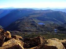 La vue panoramique du sommet de la montagne de berceau image libre de droits
