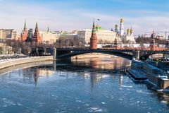 La vue panoramique la plus reconnaissable de Moscou Russie photographie stock libre de droits